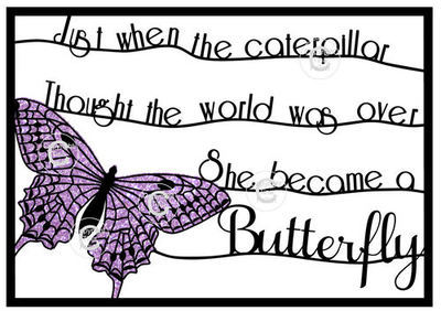 PDF  Butterfly - fit A4 frame Just When the Caterpillar design no 2