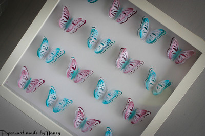 Layered Butterfly Pop Out Collage   design (a)  4 x 4  (16 butterflies ) - PDF FORMAT HANDCUT