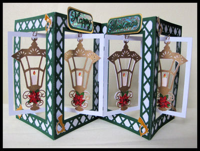 Accordian Card - Christmas Lantern-  Studio file A4 12x12 and A3 see product description