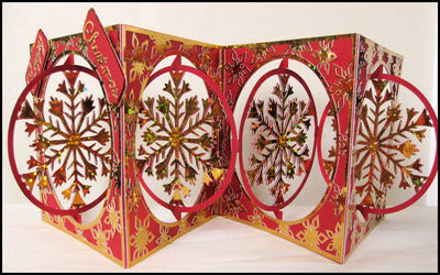 Accordian Card - Christmas Snowflake -  Studio file A4 12x12 and A3 see product description