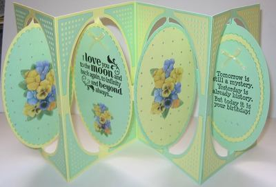 Accordian Card with OVAL inner