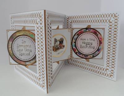 Accordian Square Card -  Studio file A4 12x12 and A3 see product description
