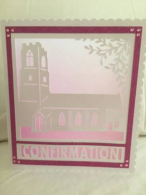 Church Card template - Confirmation - studio file