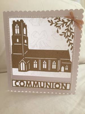 Church Card template - Communion - studio file