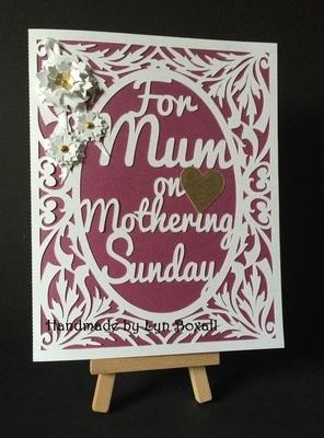 Mum on Mothering Sunday Decorative Card Template