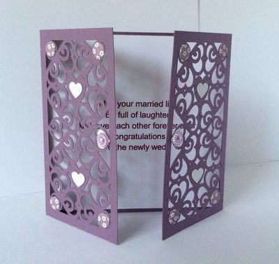 Hearts & Romance Gatefold Card  fits 5x 5  env