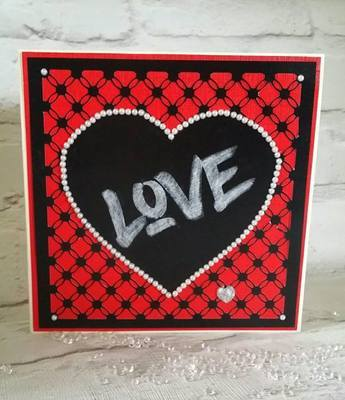 Simply Entwined Square and solid heart - Mat/Toppers /Emboss Engrave.