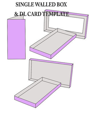DL Card Template and DOUBLE walled box to fit.