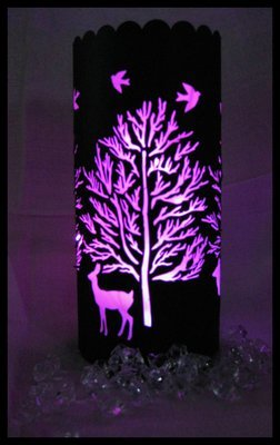Christmas  - Forest Tree and Deer Lantern