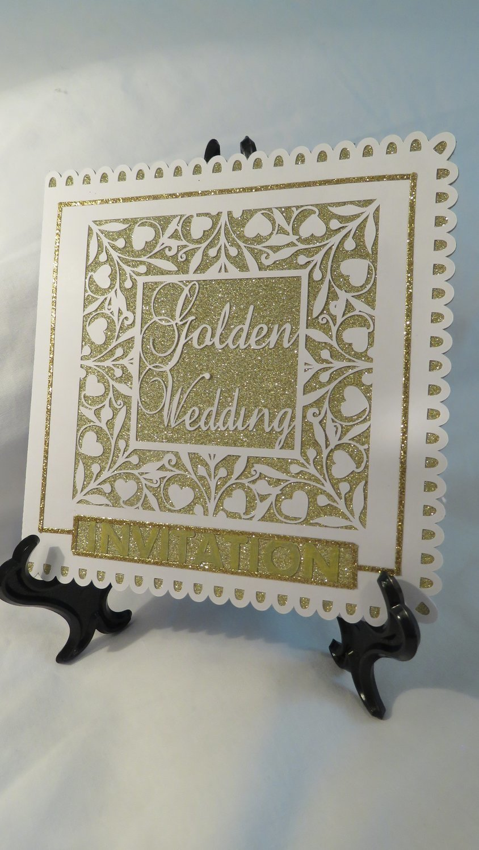Golden Wedding Invitation .