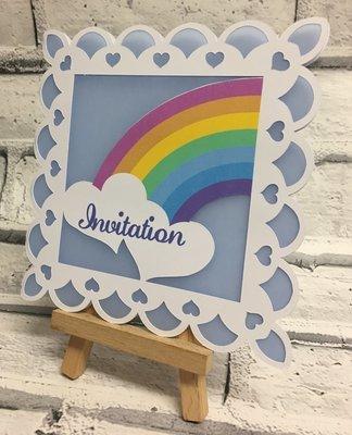 Rainbow Civil Invitation Card template