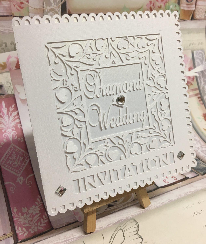 Diamond Wedding Invitation .