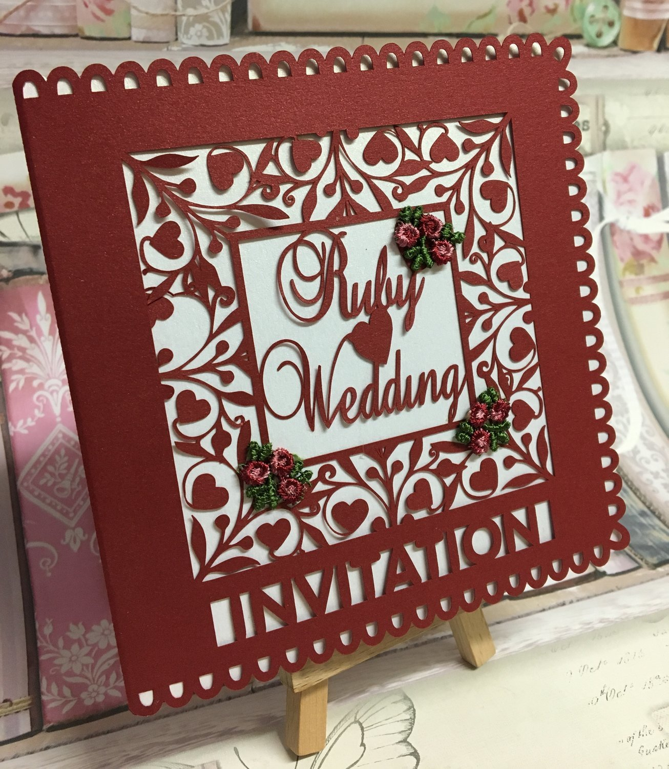 Ruby Wedding Invitation