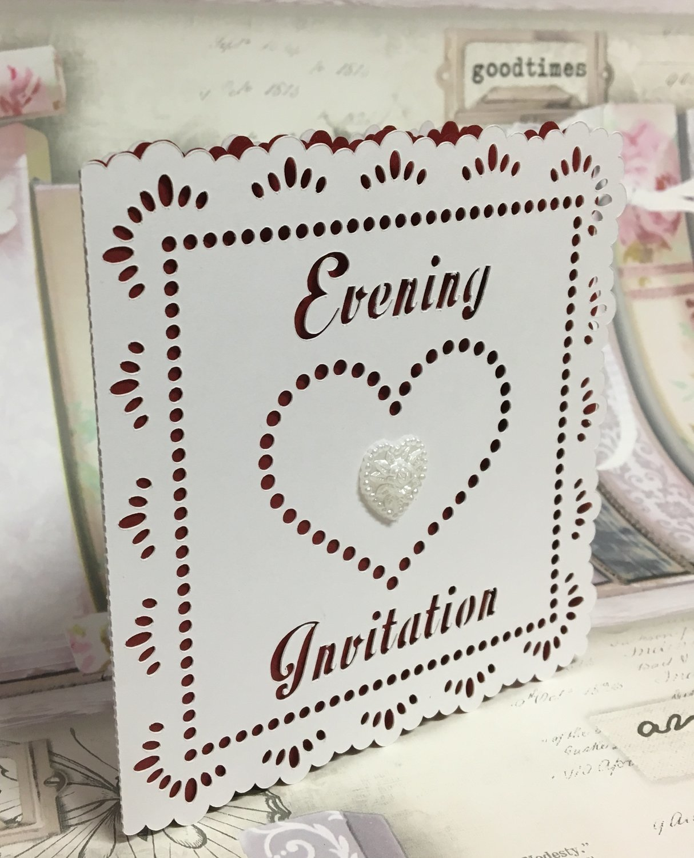 Wedding Hearts Evening Invitation