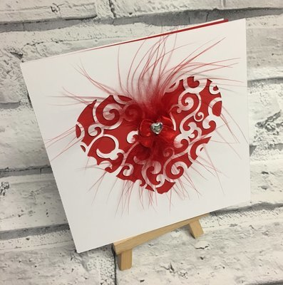 Filigree Heart Cut Out Card Template.