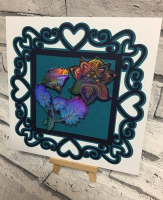 Heart frame toppers x 2