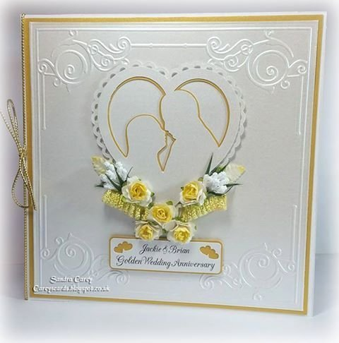 Love Heart Couple - 3 layered topper
