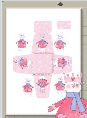 Snowman Christmas Treat Box  Print N cut for Cameo