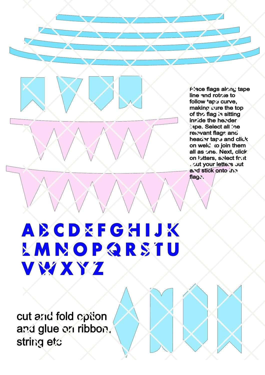 Mini bunting - create your own personalised greeting