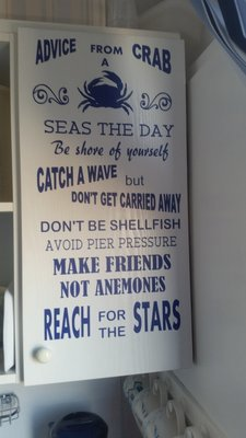 Advice From A Crab ,  Beach, marine, nautical word art - studio
