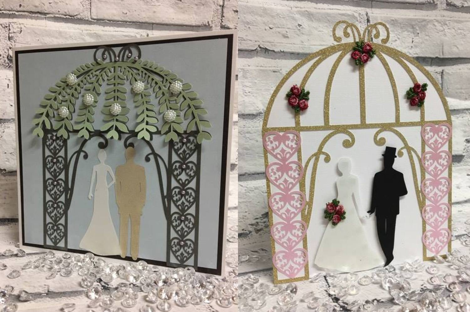 Wedding Gazebo Pagoda Arch mix  n match card and topper set