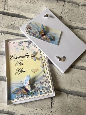 3d Butterfly Sil Studio Print n Cut card, tags and box.