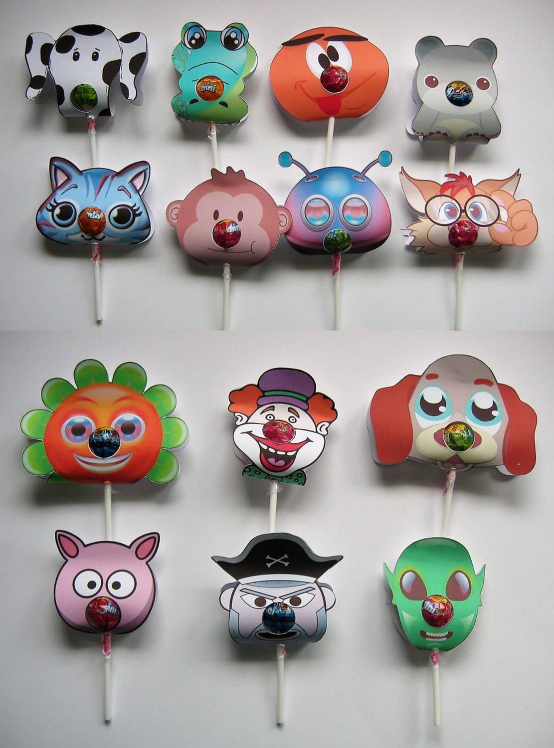 Chupa Chups Animal and Character lolly holders  set of 14 Print n Cut JPEG
