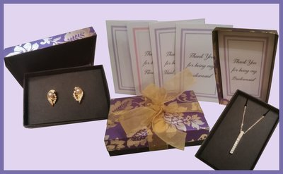 Gift Box - with Necklace and Earring Jewellery inserts - SVG format