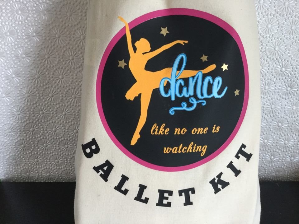 Ballet Dance Kit Bag Design 6 - studio format for HTV vinyl