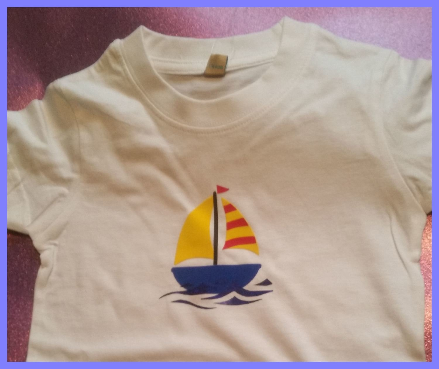 Kids Sailing Boat / Yacht for HTV Vinyl - studio format