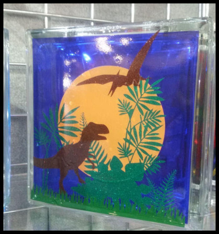 Dinosaur scene for Stained Glass vinyl / normal vinyl