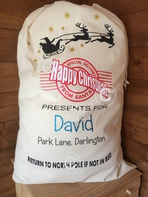 Santa Sack - for Christmas Eve delivery - Father Christmas
