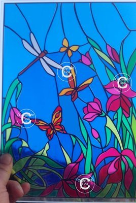 Birds and butterflies Scene - great with stained glass vinyl  SVG format inc tutorial