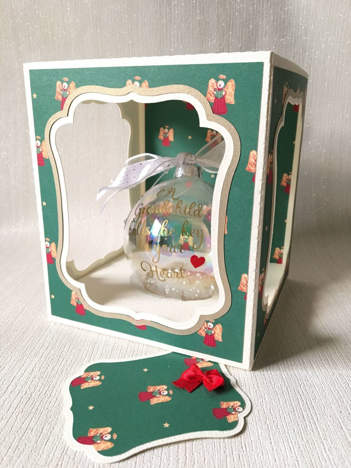 Christmas 100mm Bauble Ornament Box  -  multi design choice see details - studio format