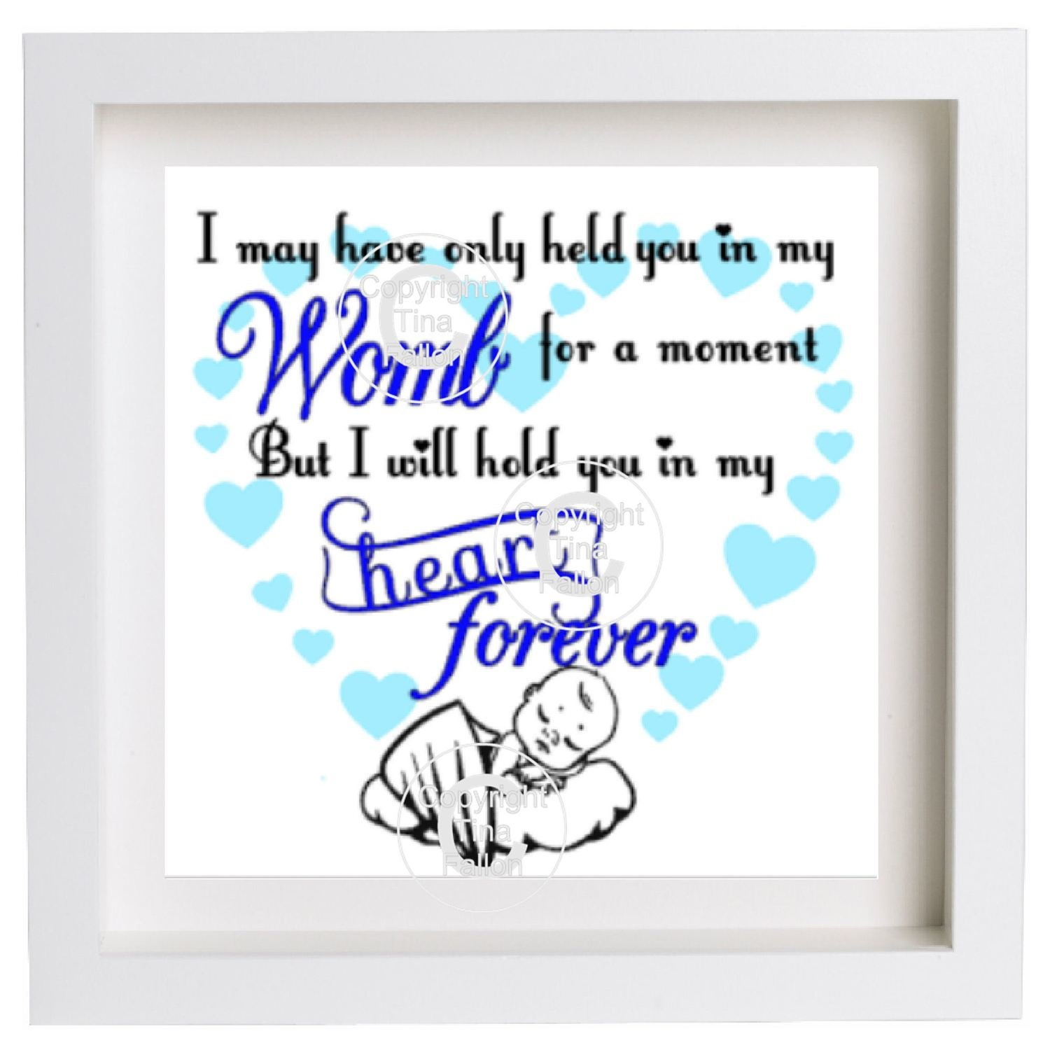 I May Have Only held you in my womb for a moment (for a square  frame)  studio format