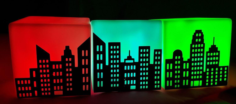 City Skyline -  3 part file