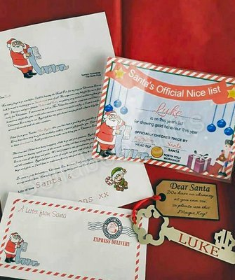 Santa's Nice List Certificate / Letter from Santa and Envelope front  JPEG formats - commercial use