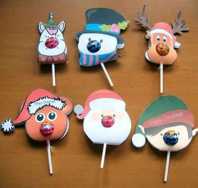 Chupa Chups Christmas Set  set of 6 individual jpegs 300 dpi