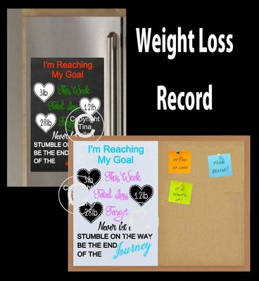 Weight Loss Chart / Board for vinyl decals - commercial use inc STUDIO/SVG and FCM