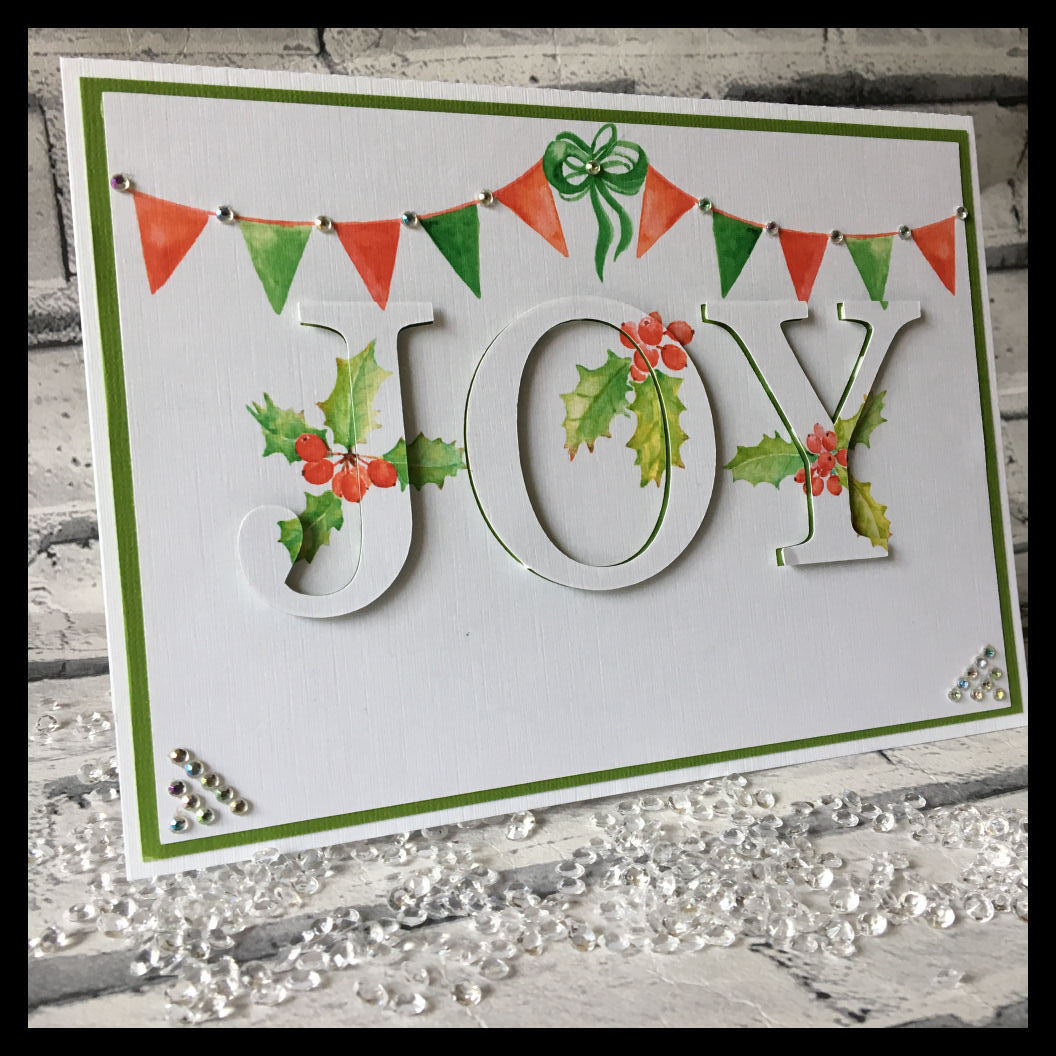 3d eclipse card - Christmas JOY  all formats
