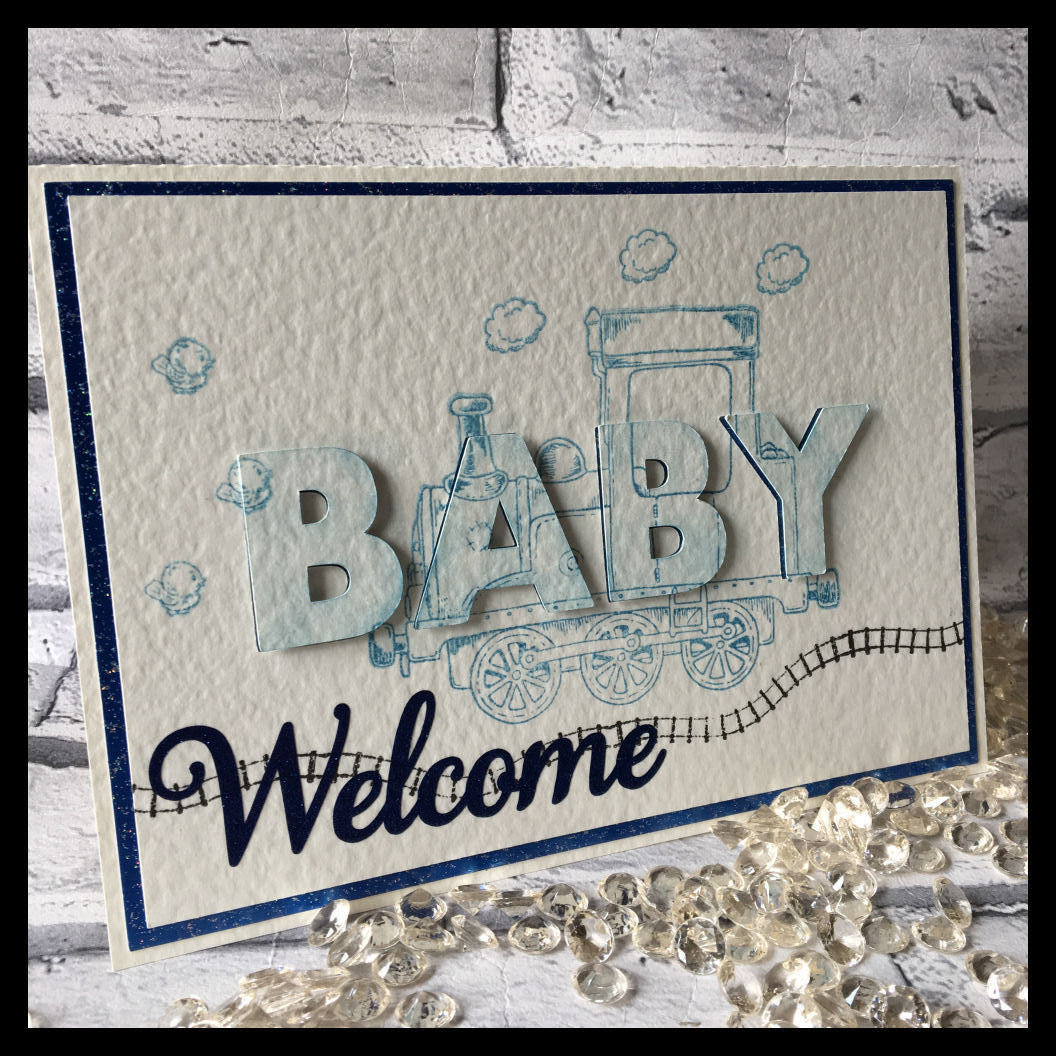 3d eclipse card - Welcome BABY   all formats