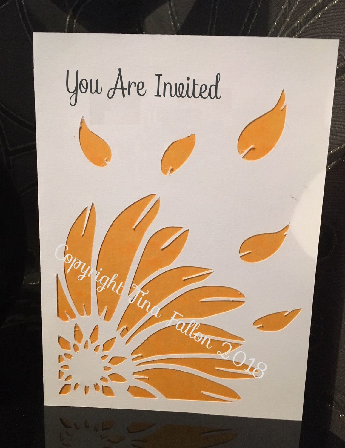 Sunflower Daisy - Pocket Fold invitation with inserts Wedding Anniversary Birthday