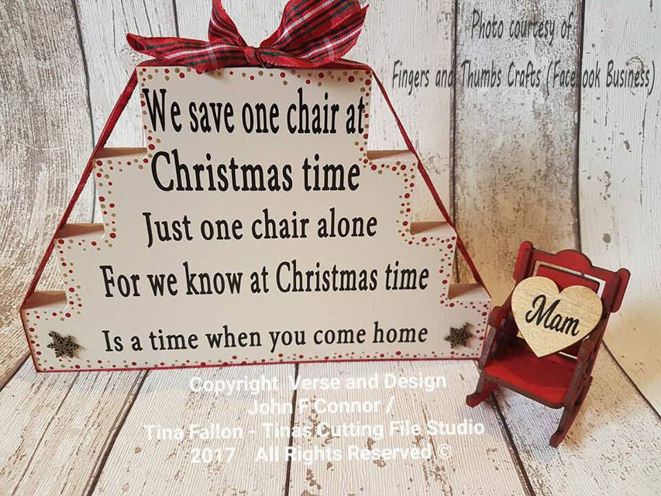 We Save One Chair At Christmas Time - Bereavement, Memory Memorial, keepsake  STUDIO/SVG/FCM - commercial use see item notes