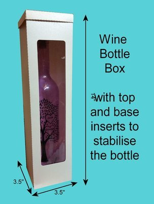 Wine Bottle box  14 x 3.5 x 3.5 inches uses A3 card