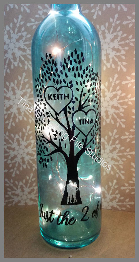 Family Tree -Just the two of us  Wine Bottle, light block decal. Easy Weed -Read description