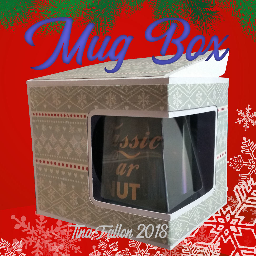 Mug Gift Box with window aperture - needs A3 card