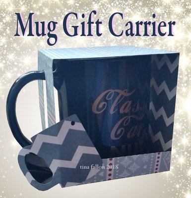 Mug Carrier Gift Box from A4 and 12x12 card
