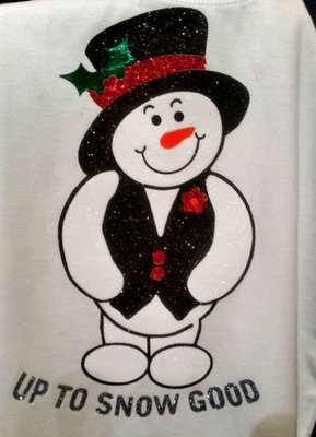 Christmas Snowman Up to snow good - knock out layered ready with full application tutorial included
