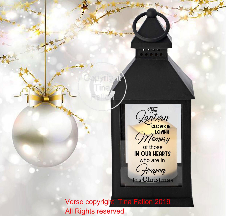 Christmas Memory Memorial Lantern Quote This Lantern Glows In Memory