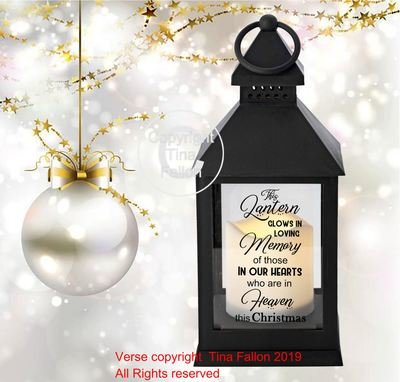 Christmas Memory Memorial Lantern Quote This Lantern Glows In Memory